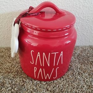Rae Dunn Santa Paws canister  and ornament